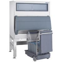 Follett DEV1160SG-56-125 56 inch Ice Storage Bin with 125 lb. Ice Cart - 1170 lb.