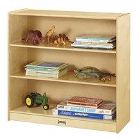 Jonti-Craft Baltic Birch 5232JC 36 inch x 15 inch x 35 inch Natural Standard Fixed Straight-Shelf Bookcase