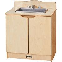 Jonti-Craft Baltic Birch 2438JC Gourmet 20 inch x 15 inch x 23 1/2 inch Toddler Kitchen Sink