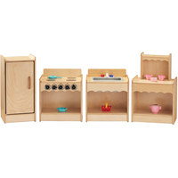 Jonti-Craft Baltic Birch 2075JC Toddler Contempo 4-Piece Kitchen Set