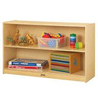 Jonti-Craft Baltic Birch 0393JC 48 inch x 15 inch x 29 1/2 inch Low 2-Section Straight-Shelf Wood Storage Cabinet