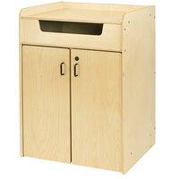 Jonti-Craft Baltic Birch 3516JC 29 inch x 24 1/2 inch x 41 inch Wood Book Return with Mobile Storage Cart