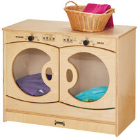 Jonti-Craft Baltic Birch 2415JC 30 inch x 15 inch x 23 1/2 inch Children's Wood Play Laundry Center