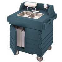 Cambro KSC402192 Granite Green CamKiosk Portable Self-Contained Hand Sink Cart - 110V