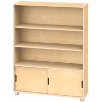 Jonti-Craft TrueModern 1724JC 36 inch x 12 inch x 48 inch Natural Three-Shelf Bookcase with Storage