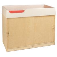 Jonti-Craft Baltic Birch 5114JC 48 1/2 inch x 24 inch x 38 inch Wood Changing Cabinet with Lockable Undershelf Storage