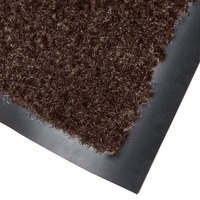 Cactus Mat 1437M-B34 Catalina Standard-Duty 3' x 4' Brown Olefin Carpet Entrance Floor Mat - 5/16 inch Thick