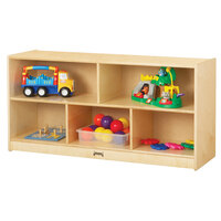 Jonti-Craft Baltic Birch 0324JC 48 inch x 15 inch x 24 1/2 inch Toddler-Height Mobile 5-Section Wood Storage Cabinet