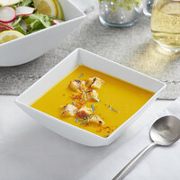 Sant'Andrea W6052344741S Nexus 28 oz. Square Bright White Embossed Porcelain Deep Soup / Cereal Bowl by Oneida - 12/Case