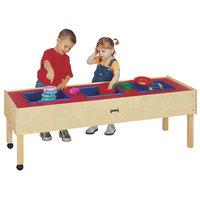 Jonti-Craft Baltic Birch 0886JC 59 inch x 20 1/2 inch x 20 inch Toddler-Height Mobile 3-Tub Wood Sensory Table