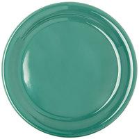 "Carlisle 4300409 Durus 9"" Green Narrow Rim Melamine Plate - 24/Case"