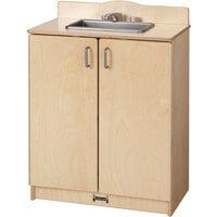 Jonti-Craft Baltic Birch 2408SA Culinary Creations 24 inch x 15 inch x 32 1/2 inch School Age Sink