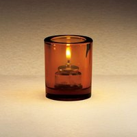 Sterno Products 80172 3 1/4 inch Amber Mini Bubbles Liquid Candle Holder