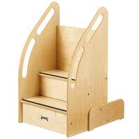 Jonti-Craft Baltic Birch 0552JC Up-n-Down 18 inch x 23 inch x 32 inch Children's Wood Tall Stairs