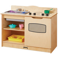 Jonti-Craft Baltic Birch 2424JC 30 inch x 15 inch x 23 1/2 inch Toddler Kitchen Cafe with Sink and Stove / Oven