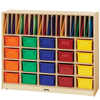 Jonti-Craft Baltic Birch 0418JC 48 inch x 15 inch x 40 inch Wood Classroom Organizer with Colored Cubbie Trays