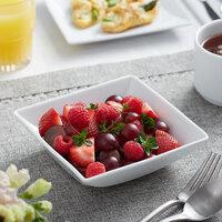 Sant'Andrea W6052344711S Nexus 16 oz. Square Bright White Embossed Porcelain Fruit Bowl by Oneida - 36/Case