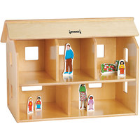 Jonti-Craft Baltic Birch 0731JC 28 1/2 inch x 15 1/2 inch x 20 1/2 inch KYDZ Wood Doll House