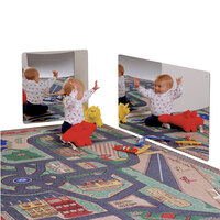 Jonti-Craft Baltic Birch 0617JC 24 inch Square Acrylic Children's Wall Mirror