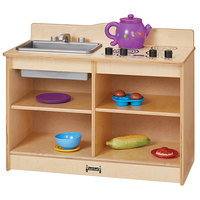 Jonti-Craft Baltic Birch 2422JC 30 inch x 15 inch x 23 1/2 inch Toddler Kitchenette with Sink and Stove