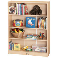 MapleWave 0961JC011 36 1/2 inch x 11 1/2 inch x 47 1/2 inch Natural Standard Bookcase - Ready to Assemble