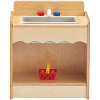 Jonti-Craft Baltic Birch 2078JC Toddler Contempo 18 inch x 13 1/2 inch x 21 1/2 inch Kitchen Sink
