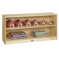 Jonti-Craft Baltic Birch 0798JC 48 inch x 15 inch x 24 1/2 inch Toddler Mobile Wood Adjustable Straight-Shelf Storage Cabinet