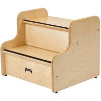 Jonti-Craft Baltic Birch 5520JC 18 inch x 15 inch x 15 inch Deluxe Children's Non-Slip Wood Step Stool