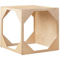 Jonti-Craft Baltic Birch 2375JC 29 inch x 29 inch x 29 inch Children's Wood Reading Hideaway