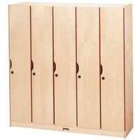 Jonti-Craft Baltic Birch 2621JC 48 inch x 15 1/2 inch x 50 1/2 inch 5-Section Locker with Doors