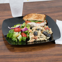 Fineline Renaissance 1510-BK 10 inch Black Customizable Plastic Plate - 120/Case