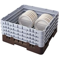 Cambro CRP4467167 Brown Full Size PlateSafe Camrack 6-7 inch
