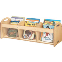Jonti-Craft Baltic Birch 5376JC 36 inch x 12 inch x 12 1/2 inch 3-Section See-Through Wood Toddler Book Browser