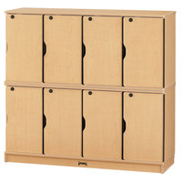 MapleWave 4696JC011 48 1/2 inch x 15 inch x 45 1/2 inch Double Stack Stackable Locking Lockers