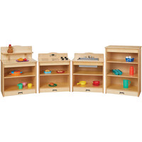 Jonti-Craft Baltic Birch 2431JC 80 1/2 inch x 15 inch x 28 1/2 inch 4-Piece Toddler Kitchen Set
