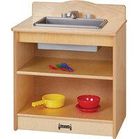 Jonti-Craft Baltic Birch 2428JC 20 inch x 15 inch x 23 1/2 inch Toddler Kitchen Sink