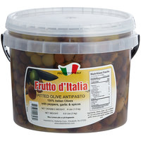 Frutto d'Italia Pitted Antipasto Olive Mix 290/300 Count - 4 lb. (1 kg) Pail