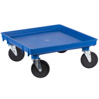 Vollrath 1697-44 Traex Blue Rack Dolly Base (No Handle) - 21 inch x 21 inch