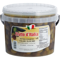 Frutto d'Italia Pitted Country Italian Olive Mix 215/225 Count - 4.4 lb. (2 kg) Pail