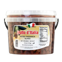 Frutto d'Italia Pitted Taggiasca Olives 320/360 Count - 4 lb. (1.8 kg) Pail