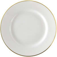 10 Strawberry Street GL0001 10 3/4 inch Gold Line Dinner Plate - 24 / Case