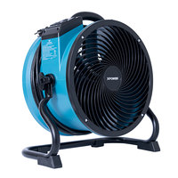 XPOWER X-39AR Blue Variable Speed Industrial Axial Fan with Sealed Motor GFCI Power Outlets - 1/4 hp