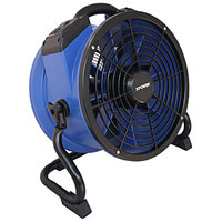 XPOWER X-35AR Variable Speed High Temperature Industrial Axial Fan with Sealed Motor and GFCI Power Outlets - 1/4 hp