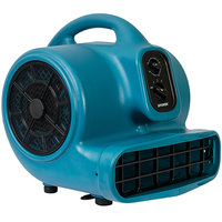 XPOWER X-430TF Blue 3-Speed Air Mover with Timer and Filter Kit - 1/3 hp