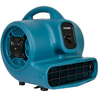 XPOWER X-400A Blue 3-Speed Air Mover with GFCI Power Outlets - 1/4 hp