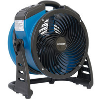 XPOWER P-21AR 4-Speed Industrial Axial Fan with GFCI Power Outlets - 1100 CFM; 115V