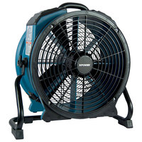 XPOWER X-47ATR Variable Speed Industrial Axial Fan with Sealed Motor, GFCI Power Outlets, and Timer - 1/3 hp