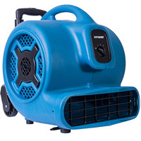 XPOWER P-800H Blue 3-Speed Air Mover with Telescopic Handle and Wheels - 3/4 hp