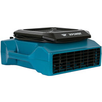 XPOWER XL-730A Blue 5-Speed Low Profile Air Mover with GFCI Power Outlets - 1/3 hp