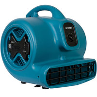 XPOWER X-600A Blue 3-Speed Air Mover with GFCI Power Outlets - 1/3 hp